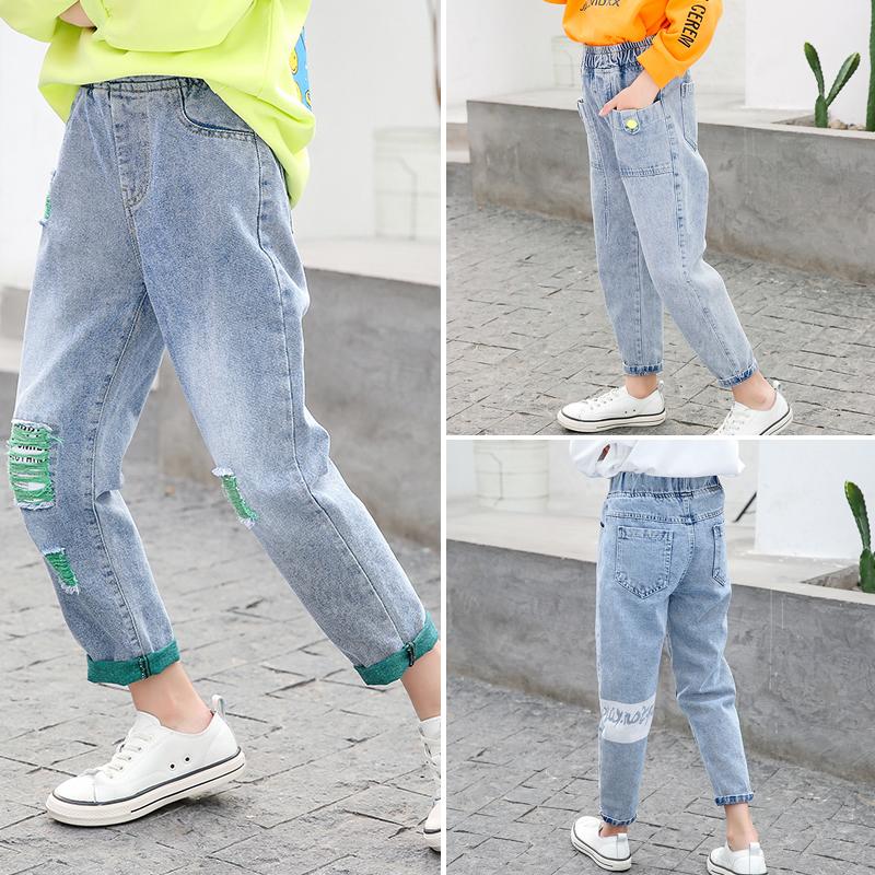 女童2020新款儿童秋装韩版潮牛仔裤
