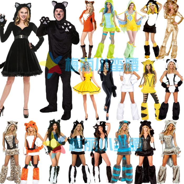 万圣节服装男女款角色扮演年会尾牙狐狸叫动物毛毛装酒吧ds演出服