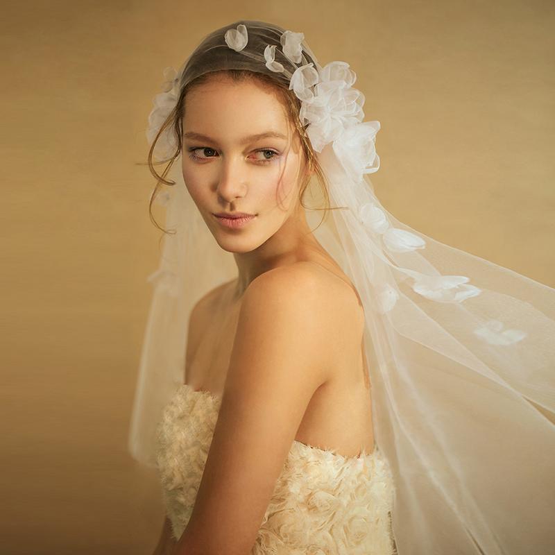 2017 новый красивый ручной работы горячей цветок невеста выйти замуж свадьба вуаль бесплатная доставка следующий месяц фаза любовь свадьба вуаль