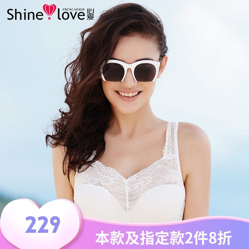 爱慕正品内衣女心爱薄款聚拢抹胸式防走光文胸罩SL15201