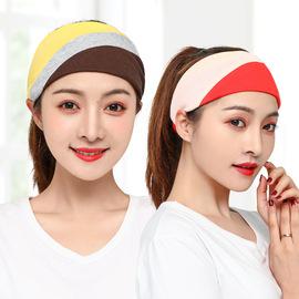 20新款月子帽头巾产后纯棉春夏季薄款拼接撞色孕产妇帽子束发带女
