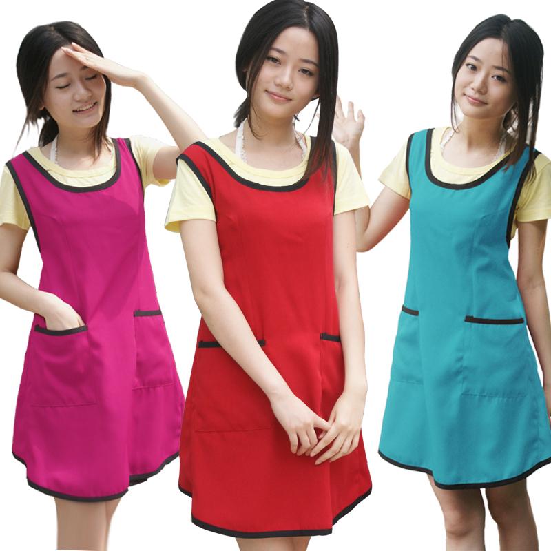 包邮美容美甲定制商场服务员厨房居家日用家用时尚美发工作围裙