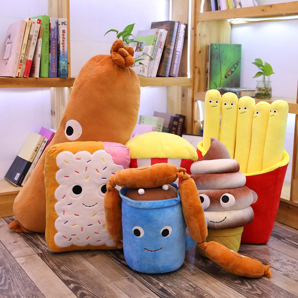 仿真汉堡薯条零食抱枕毛绒玩具创意食物靠垫网红搞怪男女生日礼物图片