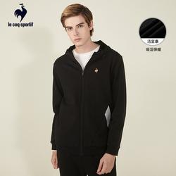 【A】乐卡克外套男官方正品秋冬新款加绒保暖连帽运动开衫上衣