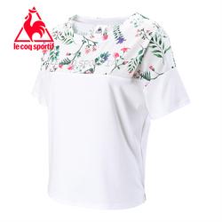 [19新品]乐卡克法国公鸡拼接宽松圆领短袖T恤女CB-0154191