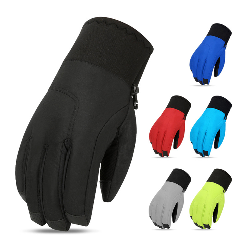Skiing gloves womens warm winter riding windproof waterproof cold proof touch screen heavy cotton mountaineering outdoor motorcycle