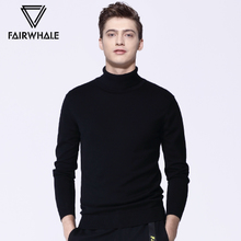 Mark Huafei high collar sweater men 2018 autumn and winter new Korean version of the trend of the bottom sweater men's slim sweater