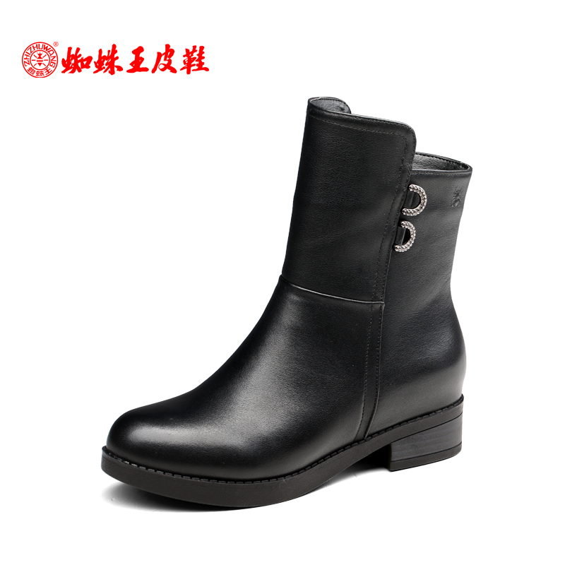 Spider king women's boots, autumn and winter women's leather boots, short boots, middle boots, all kinds of women's leather boots, broken size warehouse shoes