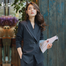 Western suit suit women 2019 new professional dress casual Korean small suit British fashion style formal dress interview