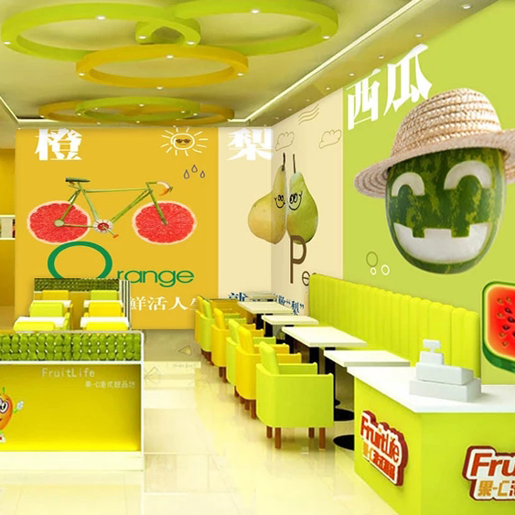 水果图案墙贴3d立体仿真自粘海报图片装饰店铺厨房餐厅背景壁纸画