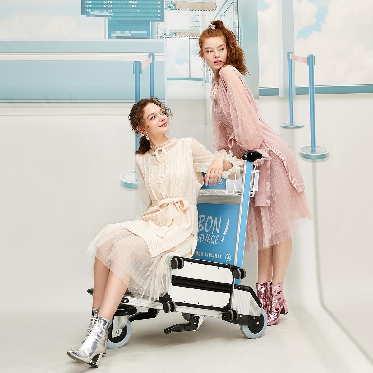 绫致Vero Moda新款仙女法式气质连衣裙|319446547