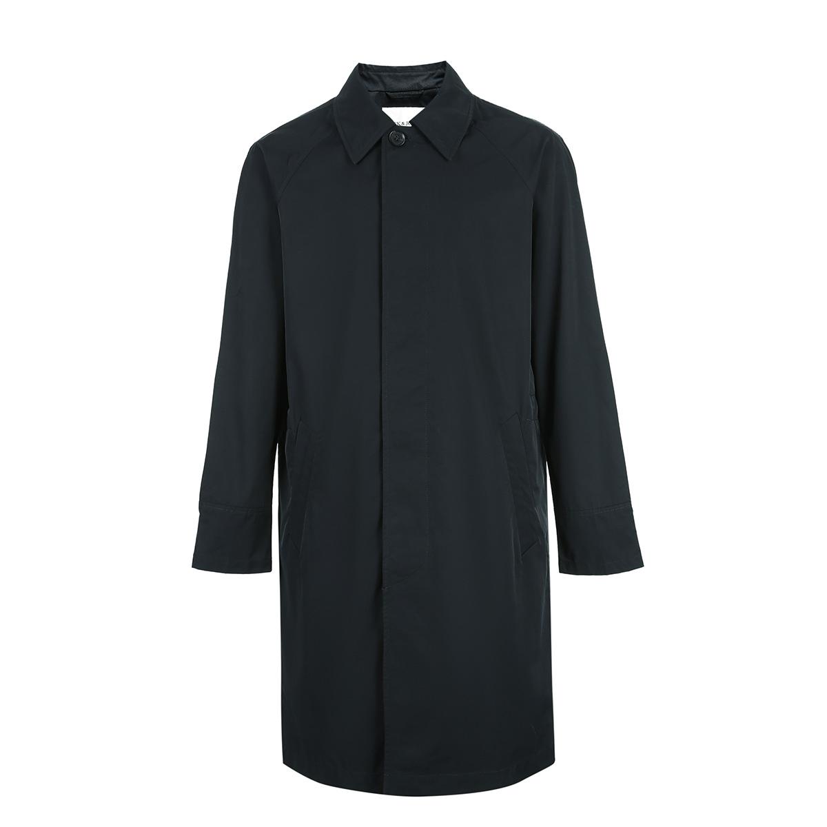 绫致JackJones杰克琼斯翻领时尚中长款风衣外套男219121528