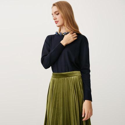 【1212新品】SELECTED思莱德冬女含羊毛针织衫毛衣418424511