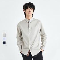 满减JackJones【大码男装】男秋纯棉织带装饰长袖衬衫 220305015