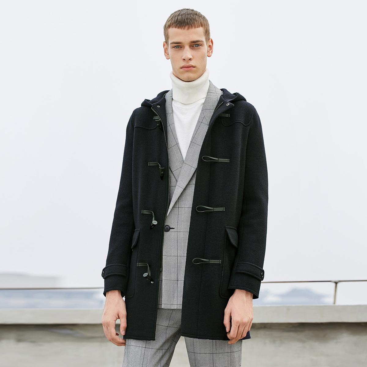 JackJones杰克琼斯中长款羊毛呢子大衣外套217327525