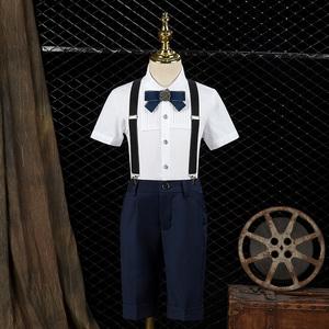 儿童男童西装套装钢琴主持人夏礼服