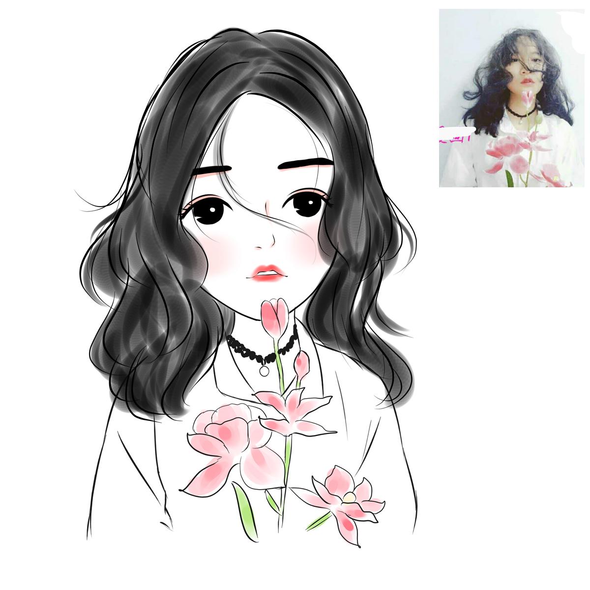 Мультфильм аватар дизайн передачи окрашены аватар Q версия Персональные портреты будут сделаны из реальных фотографий людей для влюбленной пары Micro письмо