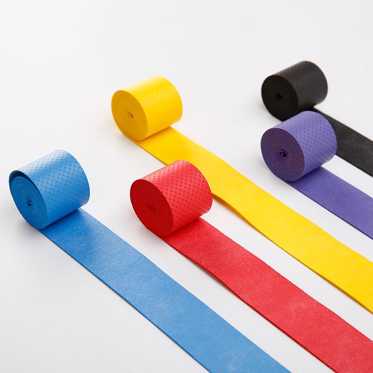 4条装压点羽毛球拍手胶网球弹弓吸汗带防滑鱼竿把手缠绕绑带胶带