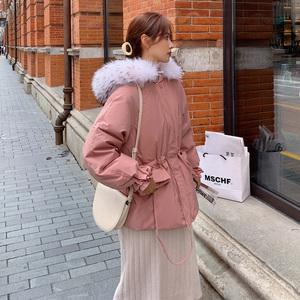 现货!高点击高转化!大毛领粉色短款棉服055-M02-P155-K228,女装棉衣/棉服,浙宝055
