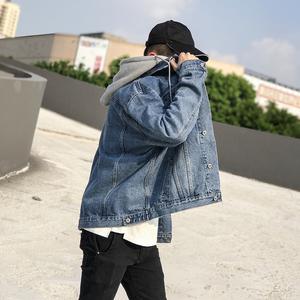 欧美街头hiphop吴亦凡同款水洗牛仔外套男韩版学生帅气宽松夹克