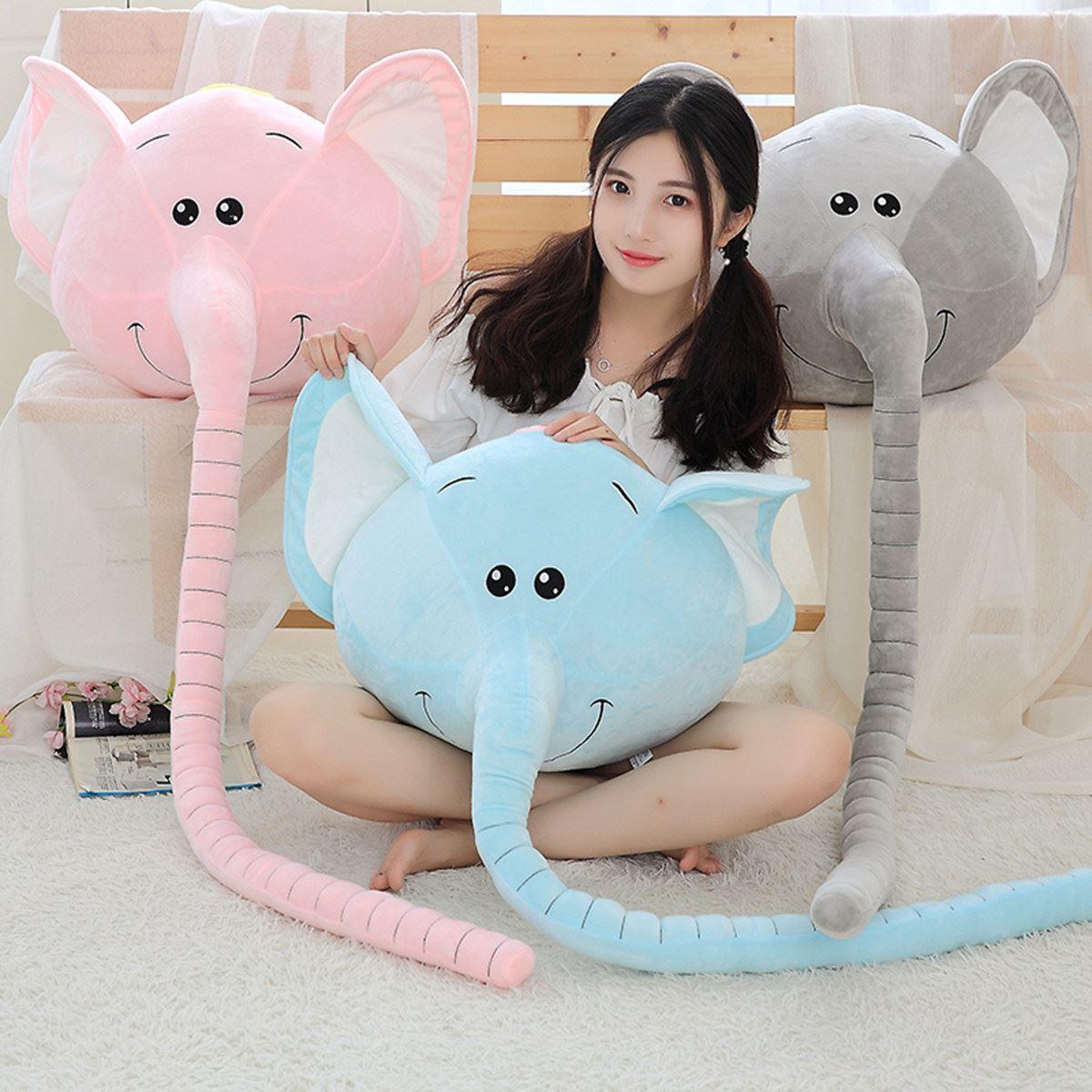 卡通长鼻象大象公仔长鼻子抱枕毛绒玩具丑萌娃娃睡觉枕头沙发靠垫