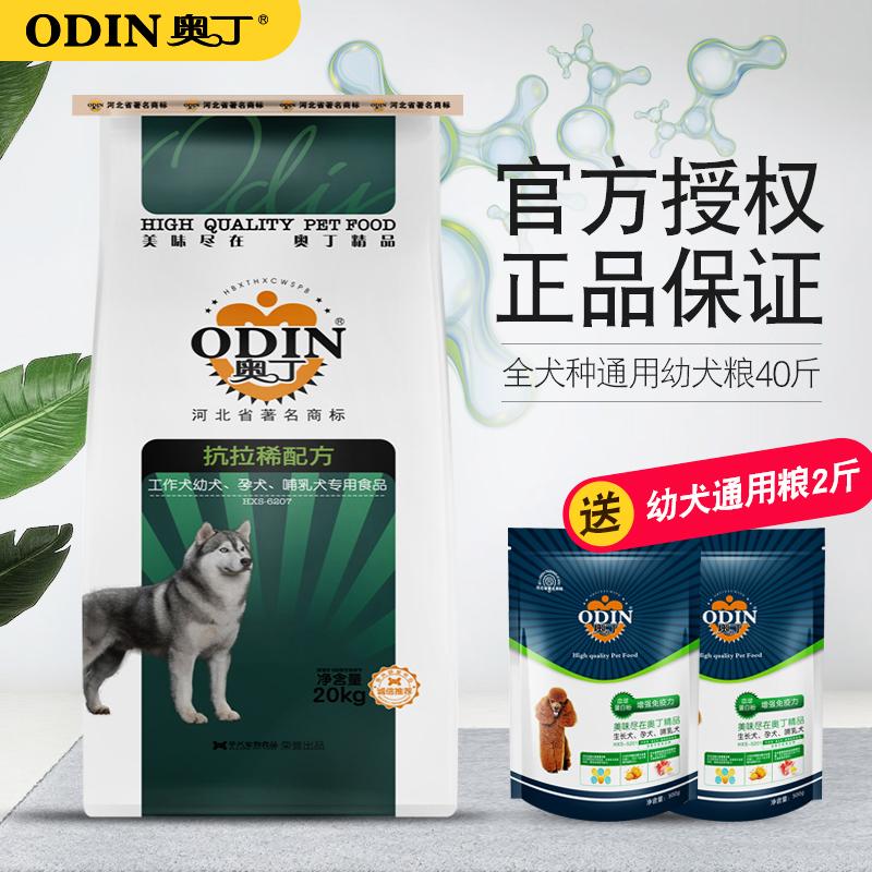 奥丁狗粮 通用型 幼犬40斤金毛萨摩耶阿拉斯加狗粮20kg