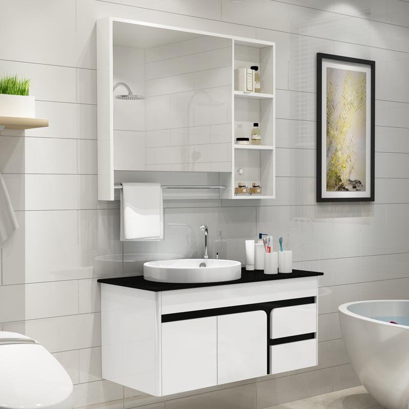 pvc组合落地式洗手脸面盆池浴室柜假一赔三