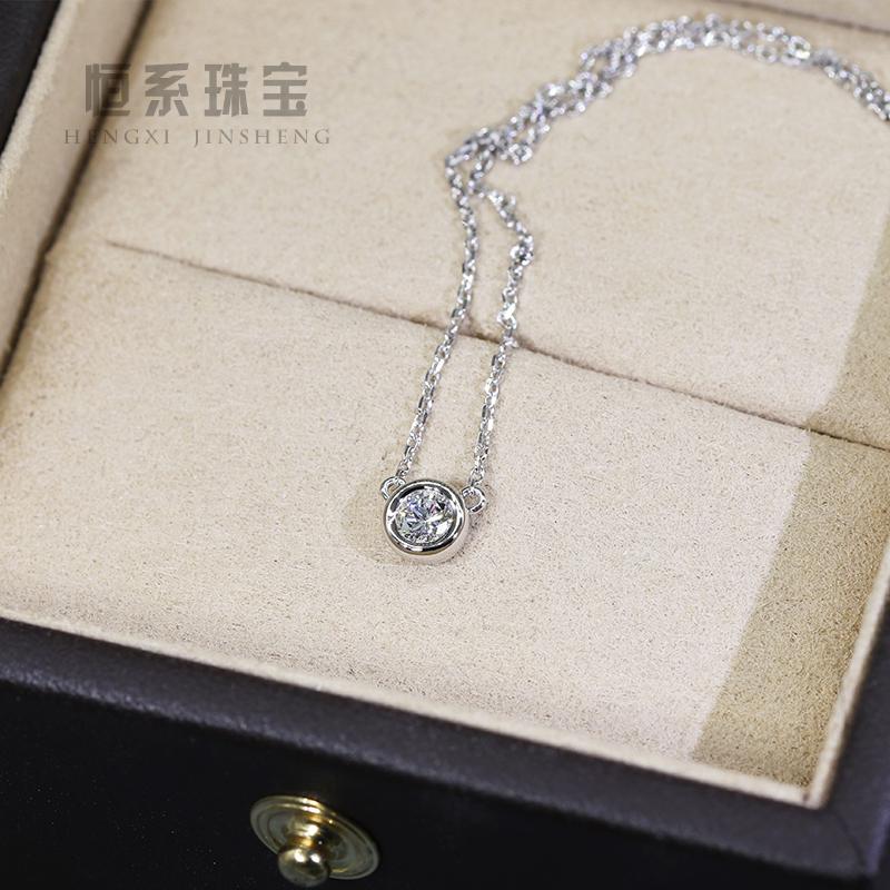 18 Kプラチナローズゴールドダイヤモンドの泡のネックレスは、ダイヤモンドの鎖骨チェーンをはめ込んでカスタマイズします。