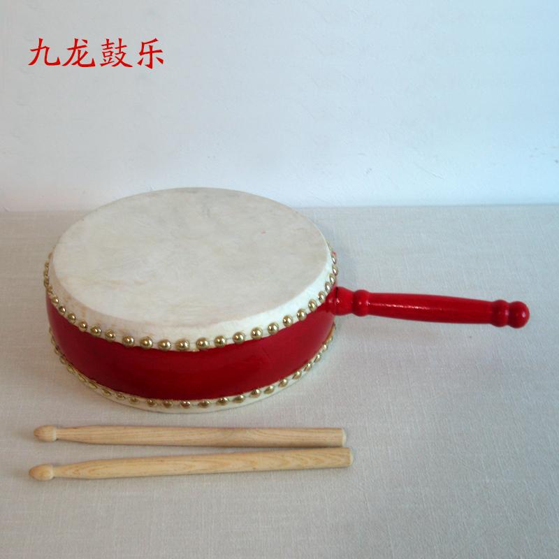 Бесплатная доставка 7 дюймовый барабан хвостовик рука барабан ребенок барабан красный барабан война барабан зал барабан небольшой барабан воловья кожа барабан выход