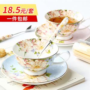 欧式骨瓷咖啡杯套装下午茶具创意陶瓷英式红茶杯碟套装家用小奢华