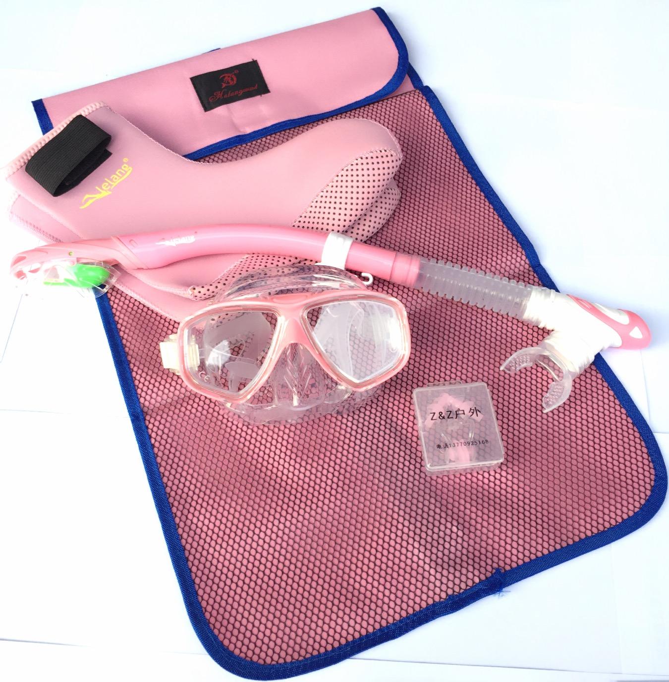 浮潜三宝全干式面镜 呼吸管 套装浮潜装备可配近视