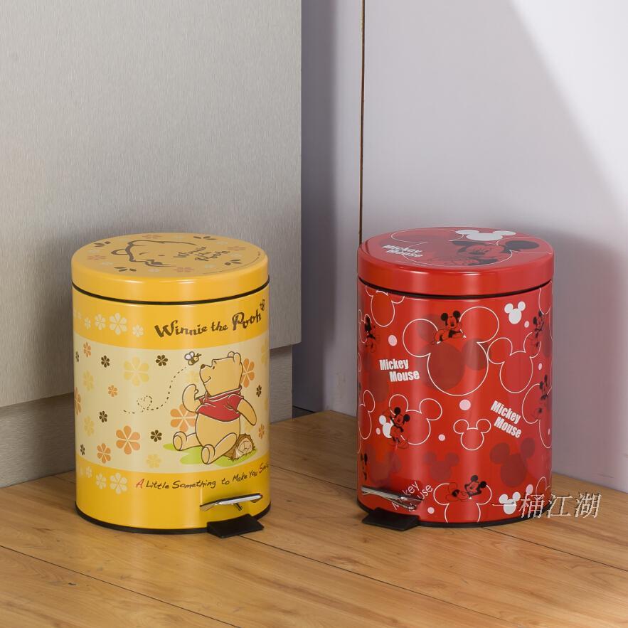 不锈钢脚踏欧式小号创意家用垃圾桶