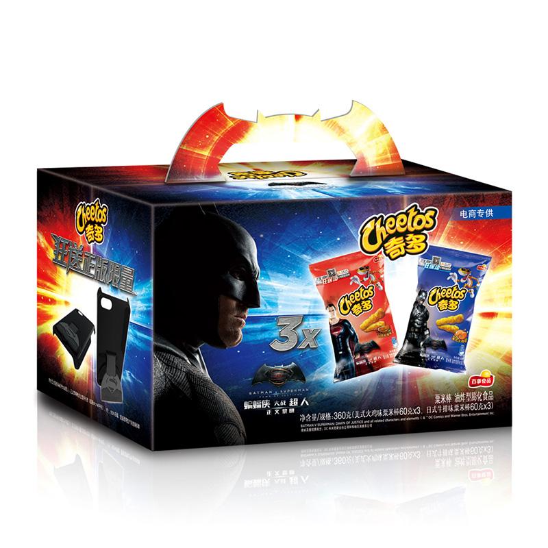~天貓超市~百事奇多蝙蝠俠大戰超人 360g 送定製版手機殼