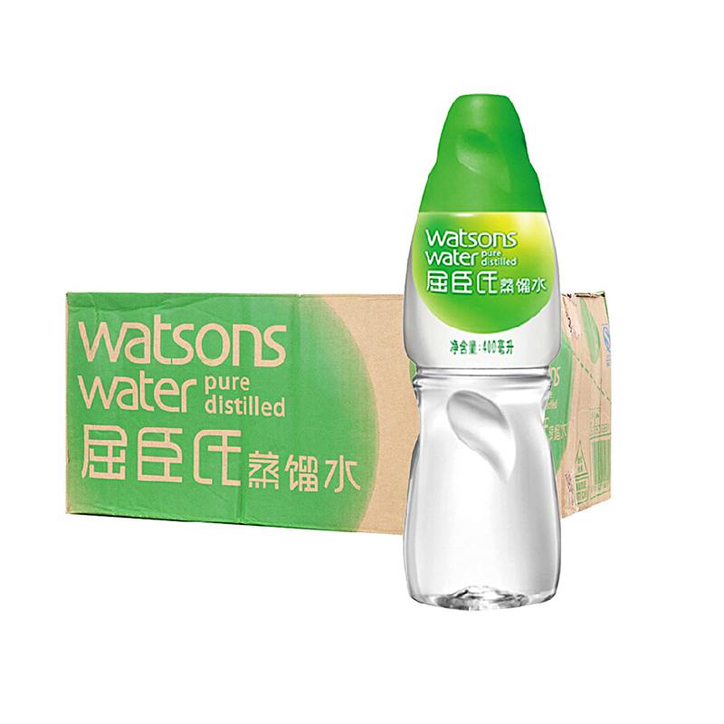 ~天貓超市~屈臣氏蒸餾水400ml^~15瓶 箱 純淨水飲用水箱裝便利