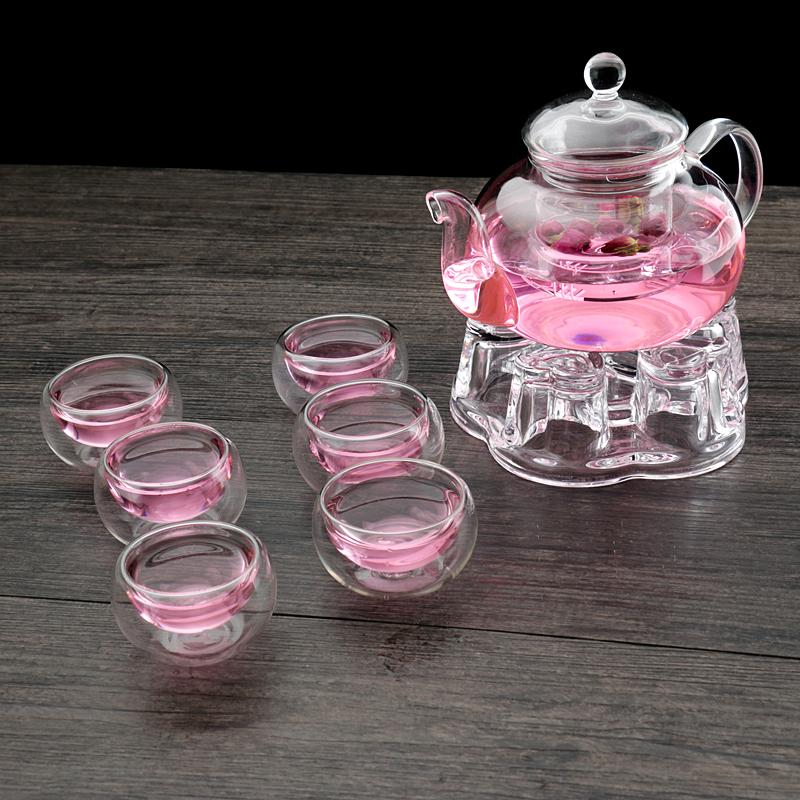 Пакет сопротивление горячей стекло чай горшок сгущаться чайный сервиз ароматный чай горшок добавка горячей высокотемпературные фильтрация прозрачный пузырь чайник