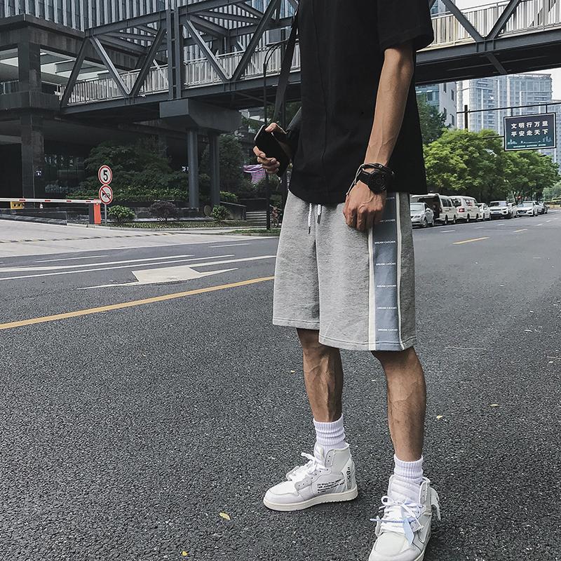 �涡』⒃���夏季印花串�诉\��ins短�男潮 情�H嘻哈中�休�e五分�