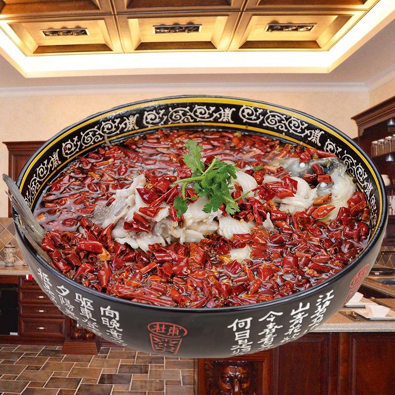 超大水煮鱼碗大汤碗汤盆面碗家用陶瓷碗饭店餐厅专用大碗酸菜鱼碗