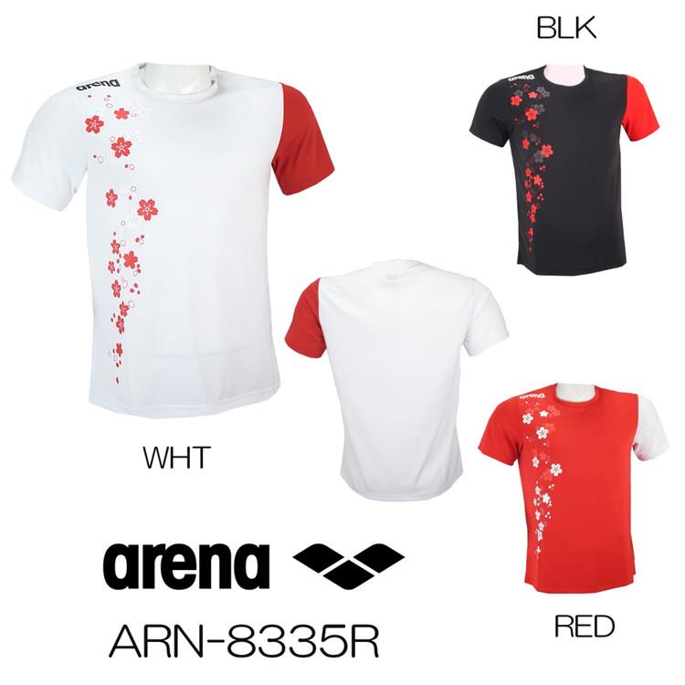 日本进口JP版阿瑞娜/arena男女款游泳休闲短袖限量版T恤ARN-8335R