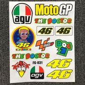 摩托车贴赞助商贴纸贴花反光贴意大利AGV汽车摩托车身改装装饰贴