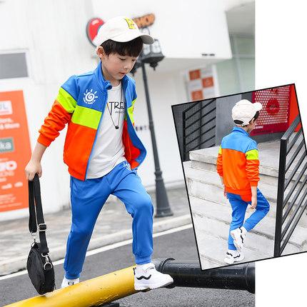 男童春季套装2019新款韩版潮衣7春装9中大童儿童运动两件15岁童装