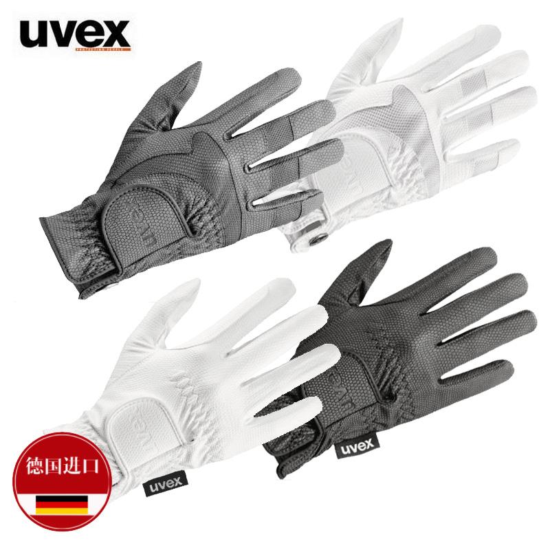 104/105 немецкий оригинал импорт UVEX модельа коснуться белый конкуренция лошадь техника перчатки верховая езда перчатки