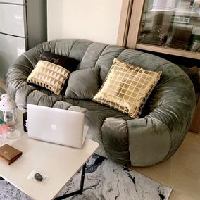 公寓卧室三人位布艺网红款客厅小户型南瓜椅子懒人迷你双人小沙发