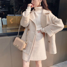 High quality cotton thick women's wool suit women's temperament in autumn and winter