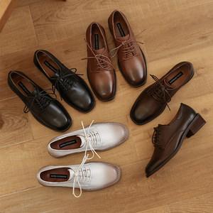 小皮匠手工鞋2020新款春季单鞋学院风英伦风森女全牛皮软皮小皮鞋