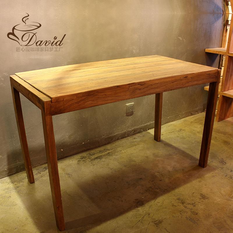 Переполнение кофе четыре стол старый вяз столы и стулья кофе зал бар столы и стулья четыре стол продаётся напрямую с завода