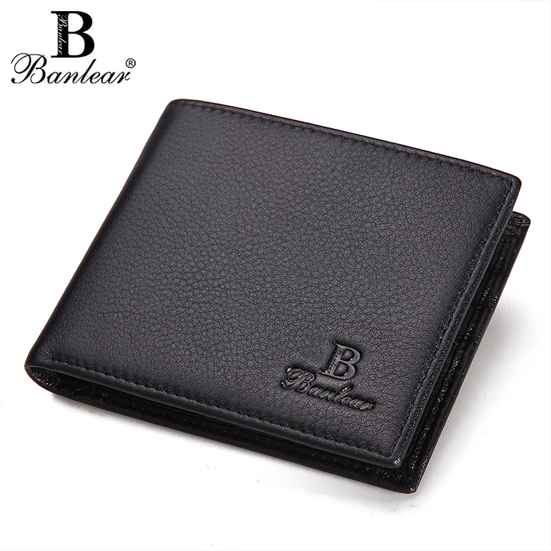 Pennia new mens wallet head leather mens short WALLET business casual leather horizontal wallet package