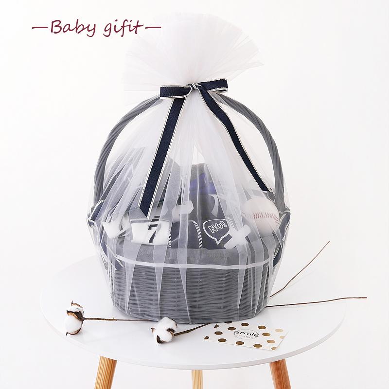 新生的儿宝宝衣服婴儿套装礼盒秋季满月礼物纯棉用品初生 0-3个月