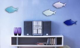 原创设计手工做旧铁艺鱼群墙壁装饰 地中海风格壁饰zakka墙饰墙贴图片