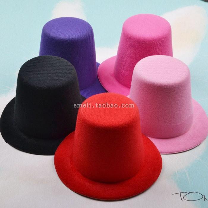 DIY accessories Japanese and Korean top hat naked hat jazz hat hair accessories headdress hairpin high felt hat