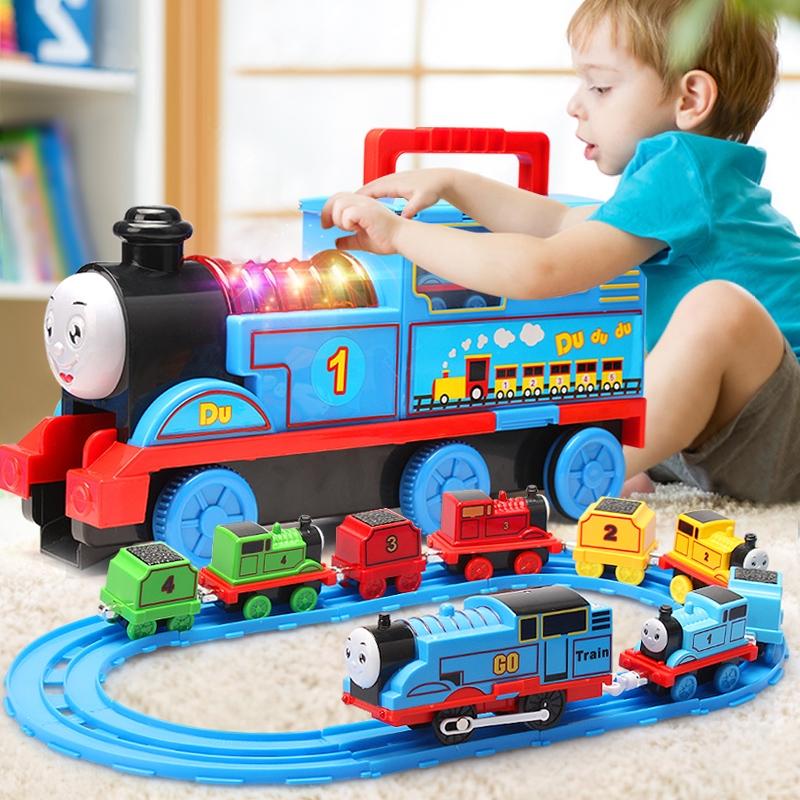 大号托马斯小火车轨道套装玩具电动儿童男孩汽车头合金益智3岁456